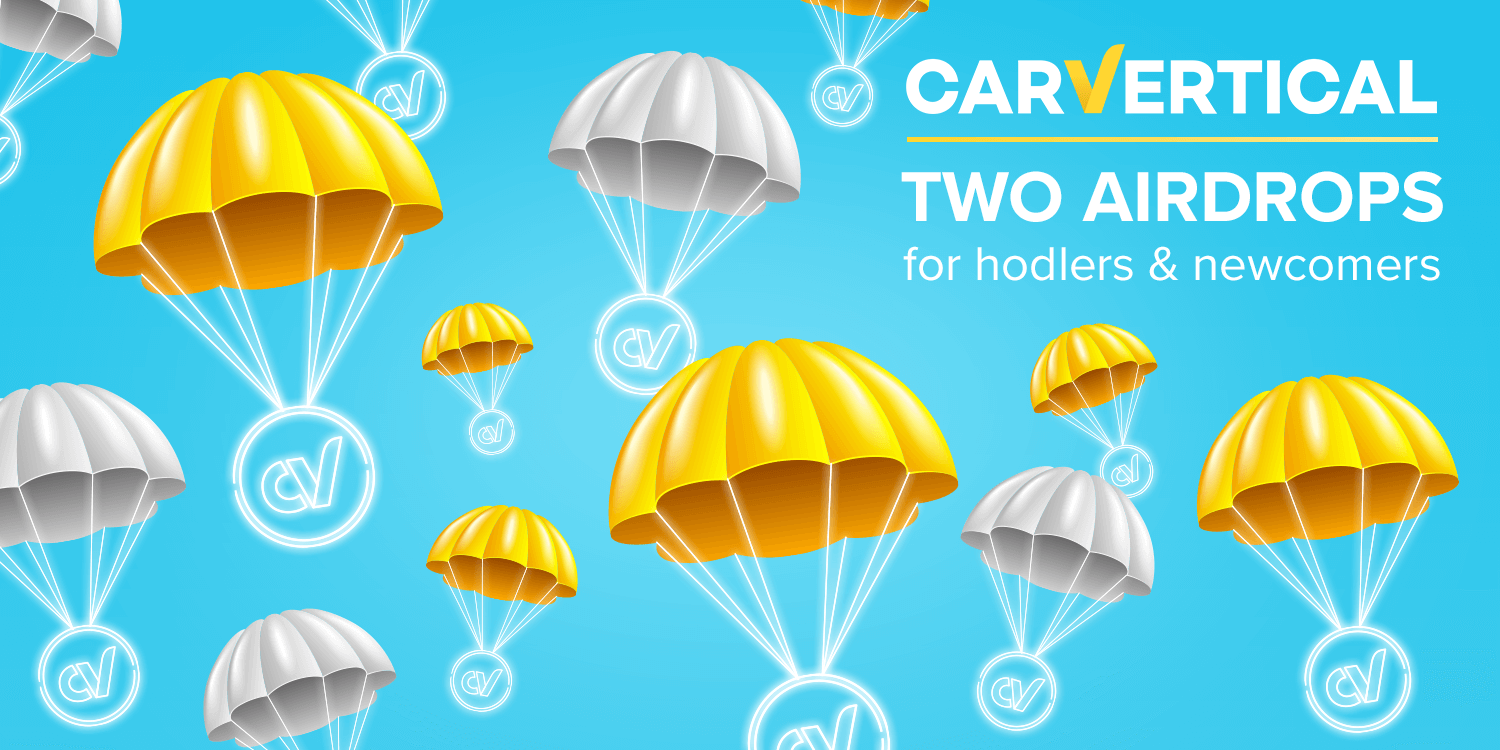 A double flight: carVertical is announcing two airdrops